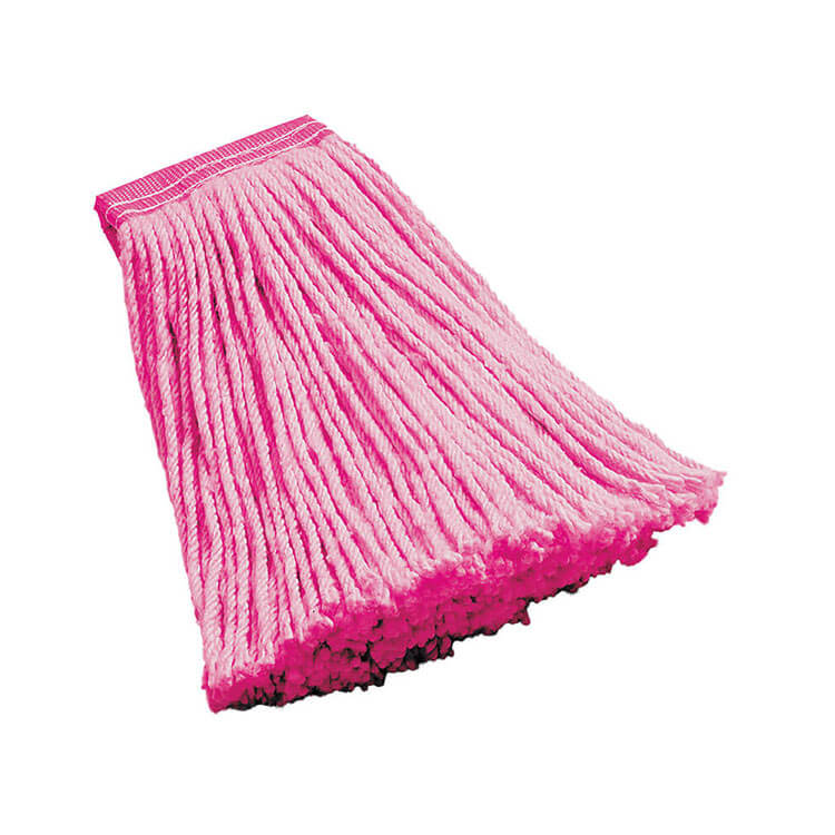 "Rubbermaid FGF13600PINK 16-oz Mop Head - 5"" Headband, Synthetic Yarn, Pink"