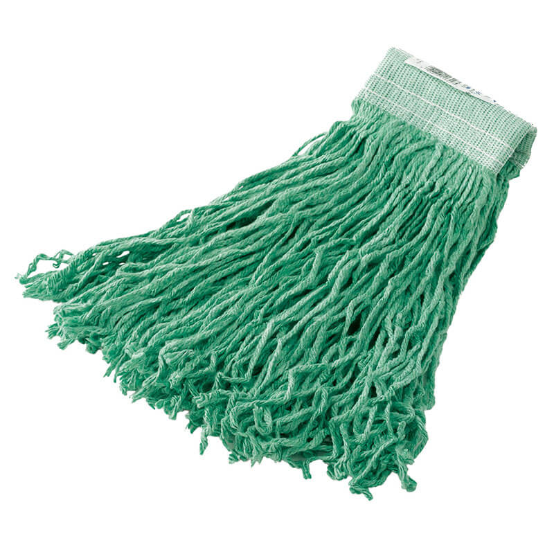 "Rubbermaid FGF13700GR00 24-oz Mop Head - 5"" Headband, Synthetic Yarn, Green"