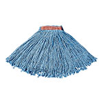 "Rubbermaid FGF51600BL00 16-oz Premium Mop Head - 1"" Headband, 4-Ply Cotton/Rayon/Synthetic, Blue"
