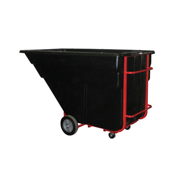 Rubbermaid FG102500 BLA 1.5-cu yd Trash Cart w/ 1200-lb Capacity, Black