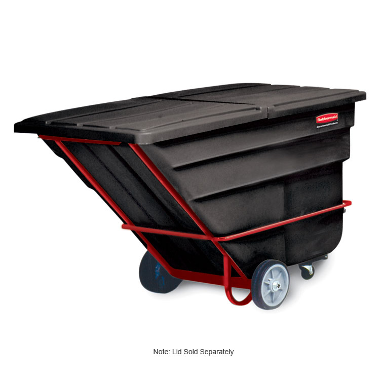 "Rubbermaid FG102600 BLA Tilt Truck - Heavy Duty, 2100-lb Capacity,  80-1/2""x43""x49-1/2"" Black"