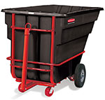 "Rubbermaid FG102641 BLA Towable Tilt Truck - Heavy Duty, 2100-lb Capacity  80-1/2""x43""x49-1/2"" Black"
