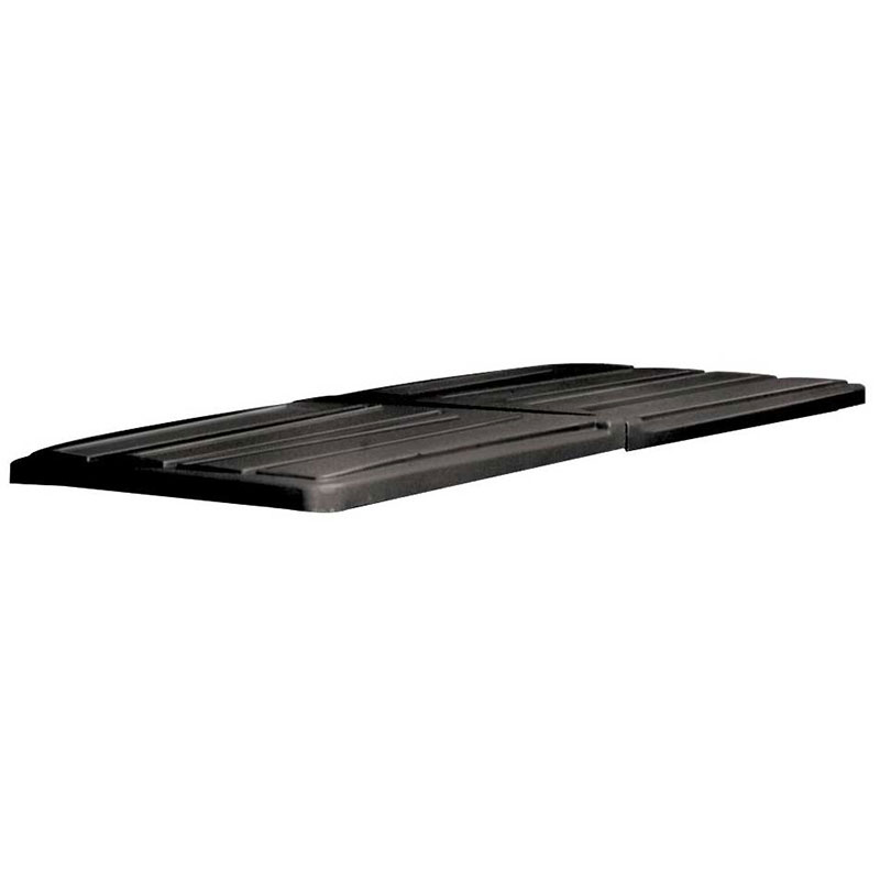 "Rubbermaid FG102700 BLA Tilt Truck - Self-Dumping Hopper Lid 82-7/8x44-1/2x3"" Black"