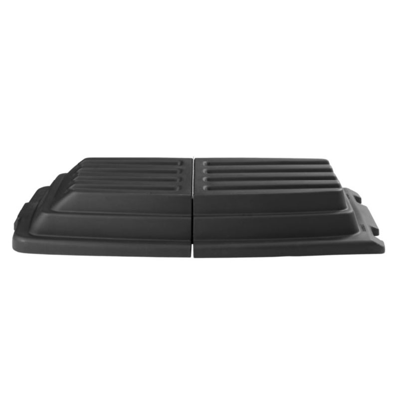 Rubbermaid FG102800BLA Domed Lid - 3/4 cu yd Capacity Tilt Truck, Black