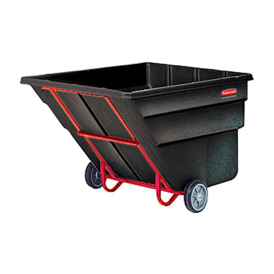 Rubbermaid FG103600 BLA 2-cu yd Trash Cart w/ 2300-lb Capacity, Black