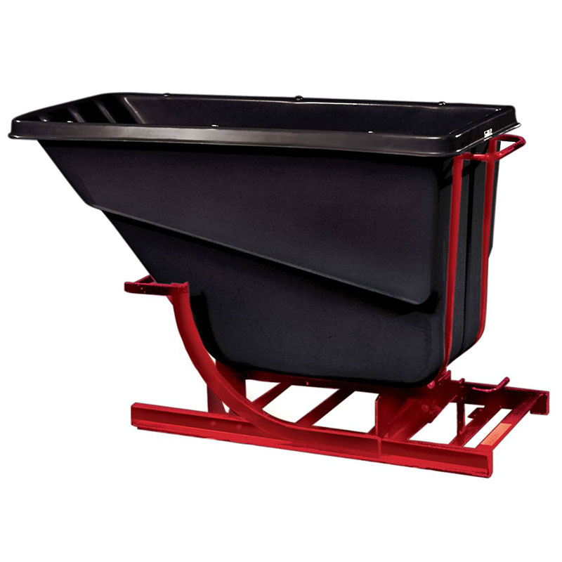Rubbermaid FG105400 BLA Self-Dumping Hopper - 0.5 cu yd, 750-lb Capacity, Black