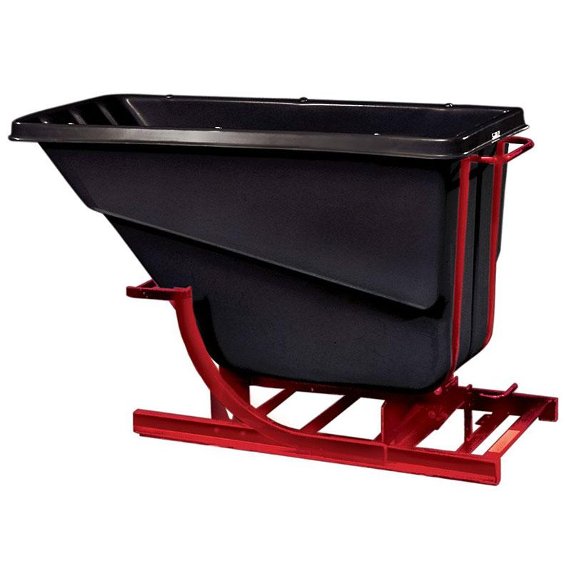 Rubbermaid FG105900 BLA Self-Dumping Hopper - 1 cu yd, 1000-lb Capacity, Black