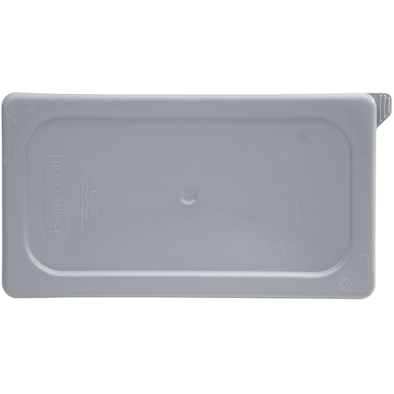 Rubbermaid FG115P29GRAY Cold Food Pan Cover - 1/4-Size, Secure Sealing, Notched, Gray