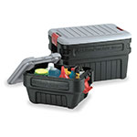 Rubbermaid FG11720438 24-gal ActionPacker® Storage Tote w/ Lid - Black