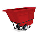 Rubbermaid FG130500RED .5-cu yd Trash Cart w/ 850-lb Capacity, Red