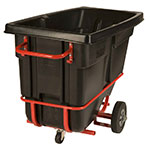 Rubbermaid FG130542BLA .5-cu yd Trash Cart w/ 850-lb Capacity, Black