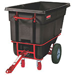 "Rubbermaid FG130641 BLA Towable Tilt Truck - Heavy Duty, 1400-lb Capacity  60-1/2""x28""x38-5/8"" Black"
