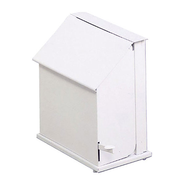 Rubbermaid FG135 Single Stall Sanitary Napkin Receptacle - Floor Model, White