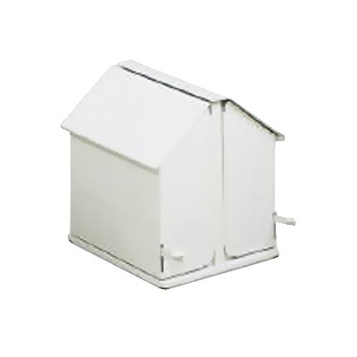 Rubbermaid FG13 Double Stall Sanitary Napkin Receptacle - Floor Model, White