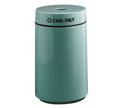 Rubbermaid FG1630CPLLGR 15-gal Can Recycling Receptacle - Fiberglass, Light Gray