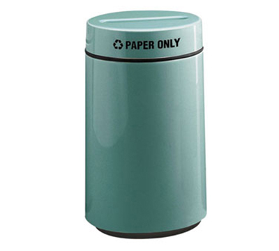 Rubbermaid FG1630PPLBK 15-gal Paper Recycling Receptacle - Fiberglass, Black