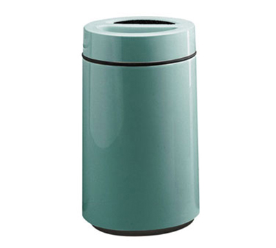 Rubbermaid FG1630SUTPLSGN 32-gal Ash/Trash Receptacle - Sand Urn Top, Fiberglass, Sea Green