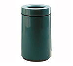 Rubbermaid FG1630TPLBY 15-gal Waste Receptacle - Open Top, Fiberglass, Burgundy