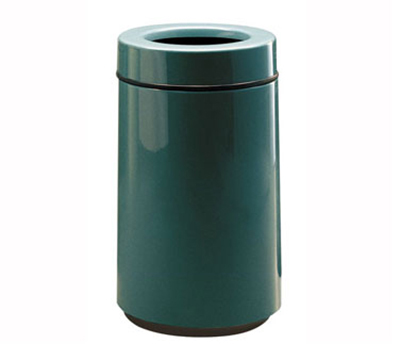Rubbermaid FG1630TPLEGN 15-gal Waste Receptacle - Open Top, Fiberglass, Empire Green