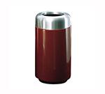 "Rubbermaid FG1630TSAPLPM 15-gal Waste Receptacle - Open Top, Aluminum/Fiberglass, 16x30"" Plum"