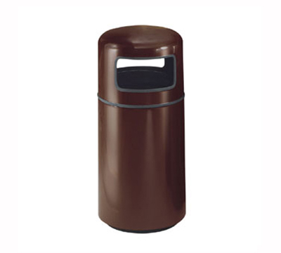 Rubbermaid FG1639PLNBL 15-gal Waste Receptacle - Covered Top, Fiberglass, Navy Blue
