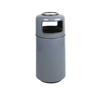 Rubbermaid FG1639SUPLBPM 15-gal Ash/Trash Receptacle - Sand Urn Top, Fiberglass, Bright Plum