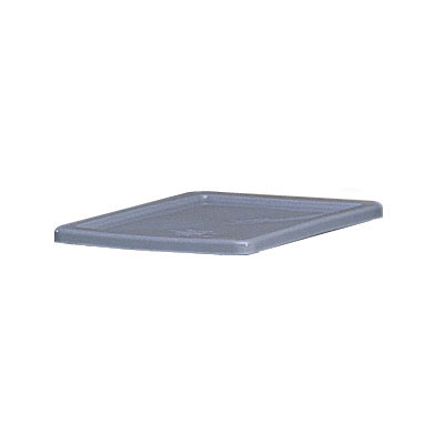 Rubbermaid FG172000GRAY Rectangle Flat Palletote Lid - Plastic, Gray