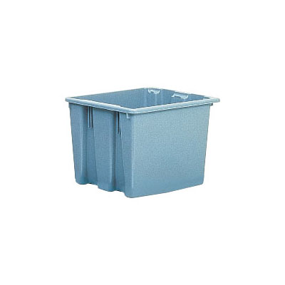 "Rubbermaid FG172200GRAY Palletote Box - 1-5/16 cu ft, 19-1/2x15-1/2x13"" Gray"