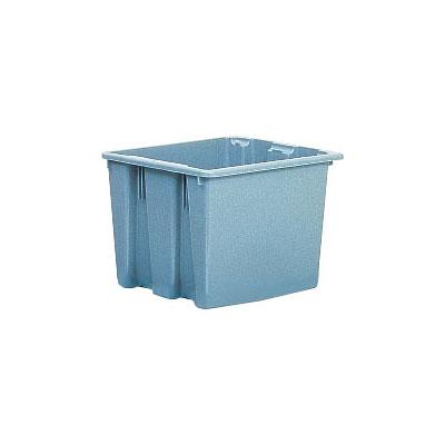 "Rubbermaid FG172200GRAY Palletote Box - 1-5/16 cu ft, 19-1/2x15-1/2x13"" Gray"