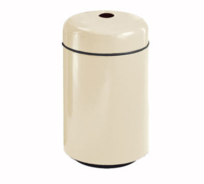 Rubbermaid FG1829CPLMV 20-gal Can Recycling Receptacle - Round, Fiberglass, Mauve