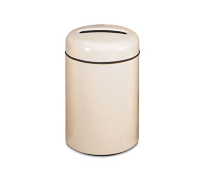 Rubbermaid FG1829PPLBYW 20-gal Paper Recycling Receptacle - Round, Fiberglass, Burgundy Wine