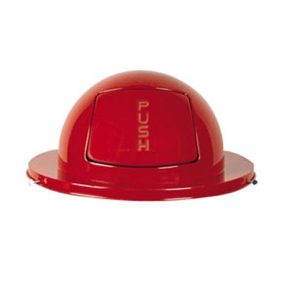Rubbermaid FG1855RD Round Dome Trash Can Lid - Metal, Red