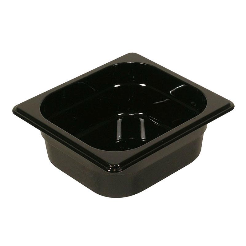 "Rubbermaid FG210P00BLA Hot Food Pan - 1/4-Size, 2-1/2"" Deep, Non-Stick, Black"