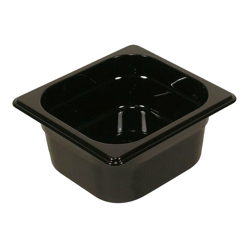"Rubbermaid FG212P00BLA Hot Food Pan - 1/4-Size, 6"" Deep, Non-Stick, Black"