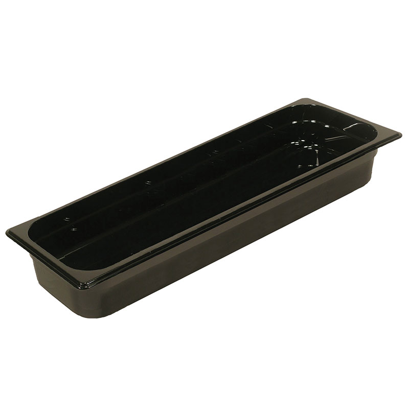 "Rubbermaid FG239P00BLA Hot Food Pan - Half-Size Long, 2-1/2"" Deep, Non-Stick, Black"
