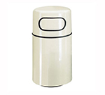 "Rubbermaid FGFG2439DRPLNBL 32-gal Round Waste Receptacle - Fire-Safe, 24x39"" Fiberglass, Navy Blue"