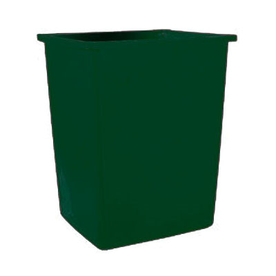 Rubbermaid FG256B06DGRN 56-gallon Commercial Trash Can - Plastic, Rectangular