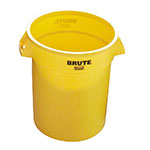 Rubbermaid FG261000YEL 10-gallon Brute Trash Can - Plastic, Round, Food Rated