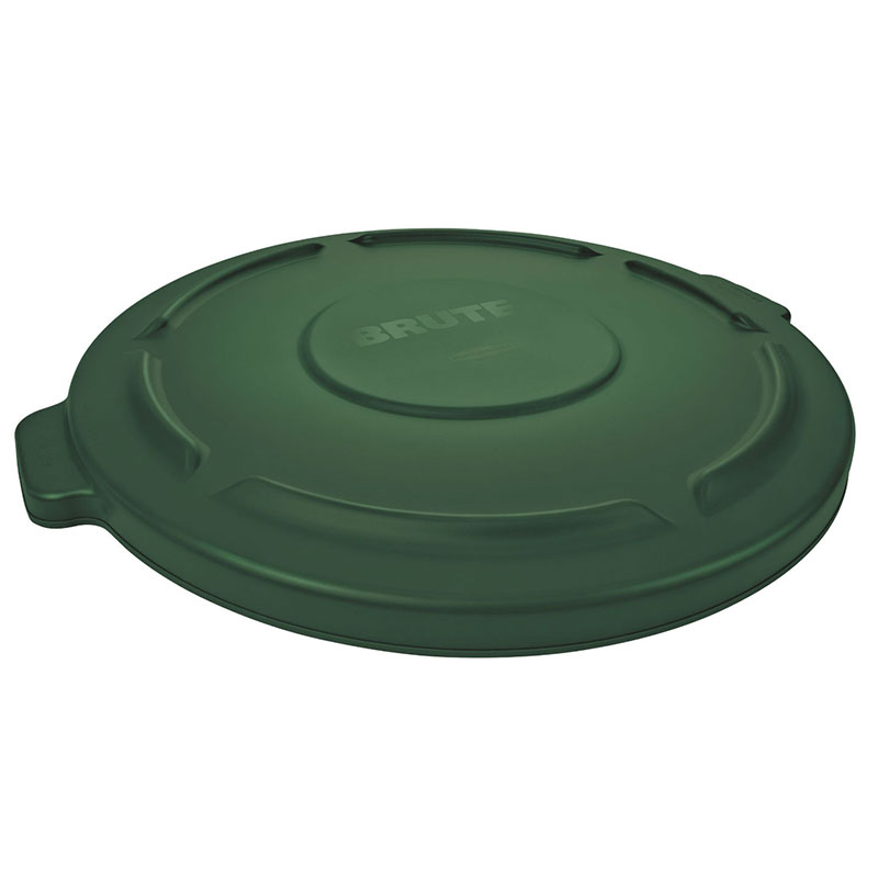 "Rubbermaid FG261960DGRN 19-7/8"" Round BRUTE Container Lid - Dark Green"