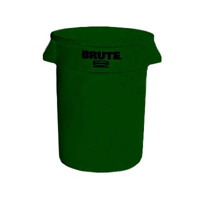 Rubbermaid FG262000DGRN 20-gallon Brute Trash Can - Plast...