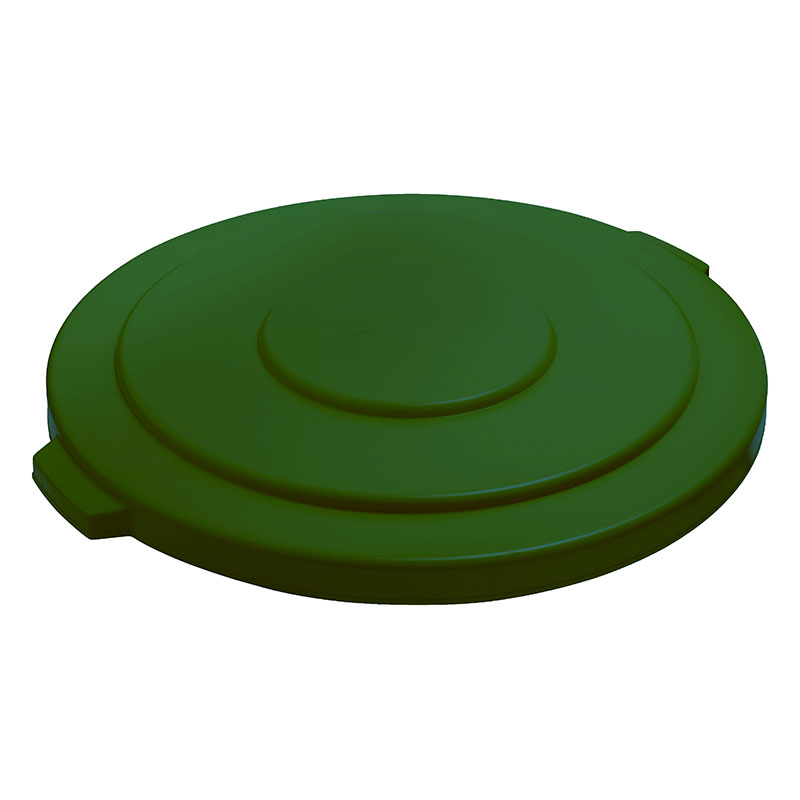 "Rubbermaid FG265400DGRN 26-3/4"" BRUTE Container Lid - Dark Green"
