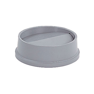 Rubbermaid FG267200GRAY Round Swing Top Trash Can Lid - Plastic, Gray
