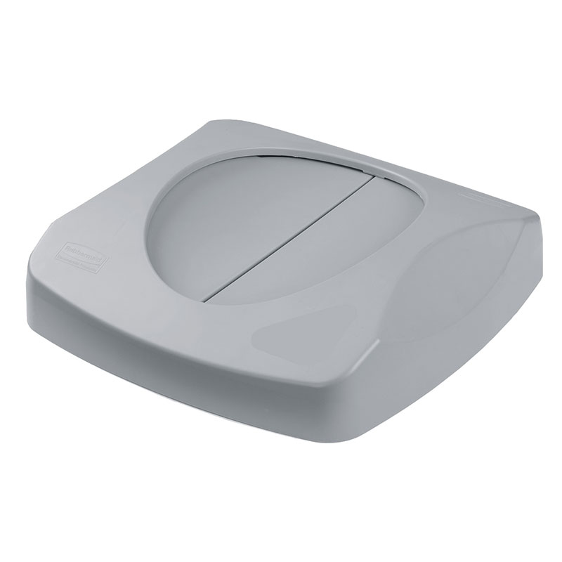 Rubbermaid FG268988GRAY Square Swing Top Trash Can Lid - Plastic, Gray