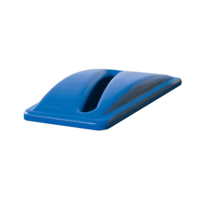 Rubbermaid FG270388BLUE Rectangle Recycling Trash Can Lid - Plastic, Blue
