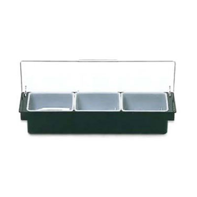 Rubbermaid FG289100BLA Condiment Dispenser - (3)1-pt Inserts, Black