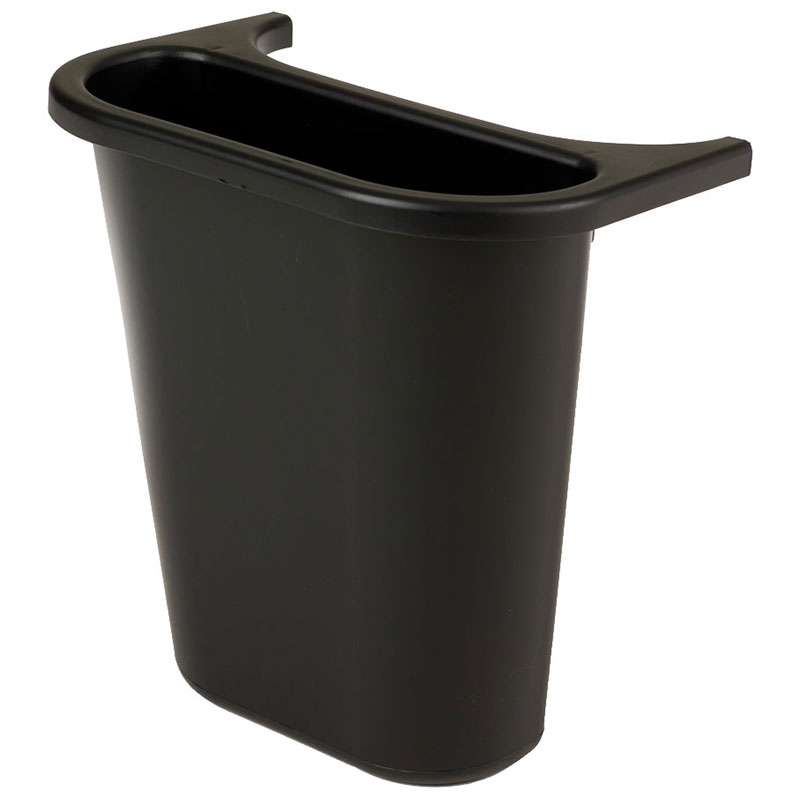 Rubbermaid FG295073BLA 13-5/8-qt Side Bin Recycling Container - Black