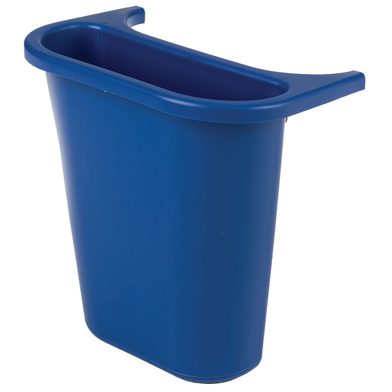 Rubbermaid FG295073 BLUE 13-5/8-qt Side Bin Recycling Container - Blue