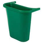 Rubbermaid FG295073 GRN 3.4-gal Multiple Material Recycle Bin - Indoor