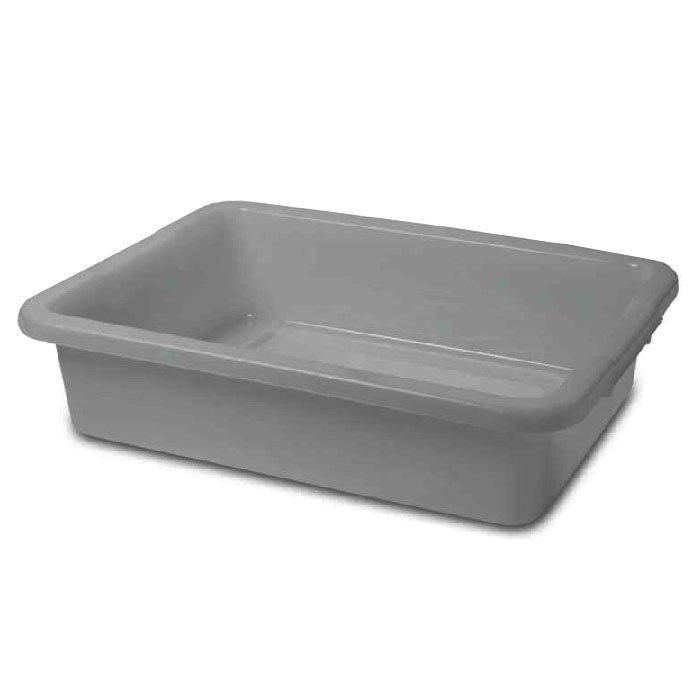 "Rubbermaid FG334992GRAY Bus/Utility Box - (Bulk Pack) 20x15x5"" Gray"