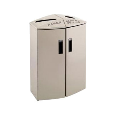 Rubbermaid 3486001 24-gal Multiple Material Recycle Bin - Indoor, Multiple Sections & Decorative